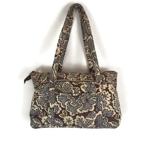 "Vera Bradley ""Slate Blooms"" Brown/Blue Floral"